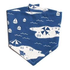 Adorable kerchief bib, with the new Winter Water Factory beach scene print in blue. Easy snap on, organic cotton, made in USA. Material: Organic Cotton Recommended for babies months Made In: Brooklyn, USA Kerchief, Beach Scenes, Baby Accessories, Baby Bibs, Beach Day, Print Patterns, Cute Babies, Organic Cotton, Kids Rugs