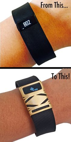Fitness Meets Fashion with Funktional Wearables! The Unisex GEO Premium Stainless Steel Cover fashionably covers your Fitbit Charge or Charge HR Fitness Tracker and is the perfect alternative to more expensive Activity Tracker Jewelry!