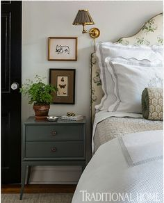 Warm & cozy room Henry & Co. ~ Henry & Co Design is a boutique interior design firm started by Elle Clymer and Stephanie Woodmansee based in New York City. Teen Girl Bedrooms, Guest Bedrooms, Blue Bedrooms, Guest Room, Home Bedroom, Master Bedroom, Serene Bedroom, Bedroom Modern, Boutique Interior Design