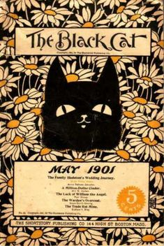 Black Cat (Magazine) - 5/1901.  More Black Cat Mag. on 'Cats on Covers' board.