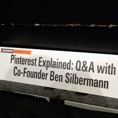 The Pinterest session needed to be pinned, right?! :) #sxsw