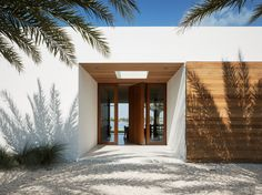 Combination of wood siding and stucco
