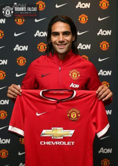 Radamel Falcao has joined Manchester United on a one-year loan deal from AS Monaco, with an option to buy at the end of the loan period. Welcome, Radamel! Official Manchester United Website, Manchester United Players, Premier League, Man Utd News, Professional Football, Old Trafford, Man United, Champions, Soccer Players