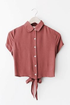 Abby Bow Button Up~ rust - Frankie Phoenix Trendy Outfits, Summer Outfits, Cute Outfits, Teen Fashion, Fashion Outfits, Womens Fashion, Fashion Tips, Vetements Shoes, Diy Kleidung