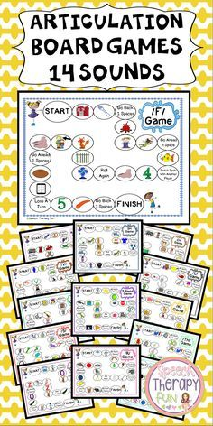 Articulation Game Boards addressing 14 different sounds in the initial position! #articulation #speechtherapy
