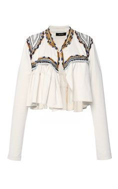 Embroidered Cotton Twill Sabriel Jacket by ISABEL MARANT for Preorder on Moda Operandi