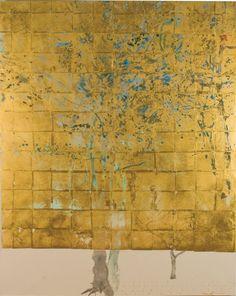 Gold Leaf Art, Gold Art, Contemporary Abstract Art, Abstract Landscape, Art Thou, Art Techniques, Asian Art, Japanese Art, Oeuvre D'art