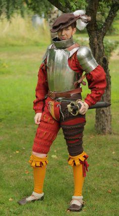 Medieval Costume, Medieval Armor, Medieval Fantasy, Renaissance Clothing, Renaissance Fair, Renaissance Outfits, Warhammer Empire, Warhammer Fantasy, Armadura Medieval