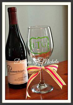 Monogram Wine Glass, GF006