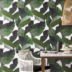 Shop Palm Wallpaper. Inspired by the balmy paradise of the Caribbean, designer Brett Beldock's palm wallpaper is trendy yet timeless. We love it in the entry or as a statement wall. Palm Wallpaper is a CB2 exclusive. Learn about on our blog. How many rolls will you need?.