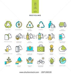 Flat Recycle Icon Fotografie, snímky a obrázky | Shutterstock