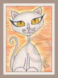Whimsy Cat 5 - Original ACEO