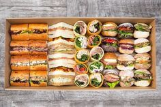 Bread Project: Gourmet Sandwiches, Mini Wraps, Mini Baguettes, and Mini Rustic Rolls - Catering Project Sydney Gourmet Sandwiches, Picnic Sandwiches, Finger Sandwiches, Wedding Sandwiches, Sandwich Recipes, High Tea Sandwiches, Sandwich Ideas, Picnic Recipes, Breakfast Sandwiches
