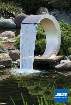 Edelstahlobjekt Wasserfall Celcius