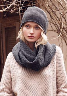 Charcoal Marl Cashmere Beanie | Hats, Accessories | hush | hush-uk.com