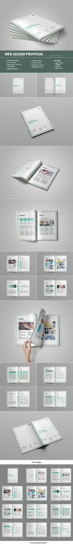 Web Design Proposal  — InDesign Template • Only available here ➝…