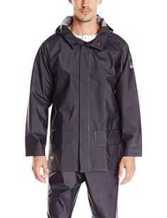 59970b0a60 Helly Hansen Workwear Men's Mandal Rain Jacket Pvc Coat, Helly Hansen,  Bungee Cord,