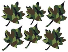 GREEN CAMO LEAVES wall decals boys room hunting decor for the Hot New Camo Theme look. Teen, kids, and nursery baby room wall art stickers. Designed with your child in mind. #decampstudios http://www.etsy.com/shop/decampstudios