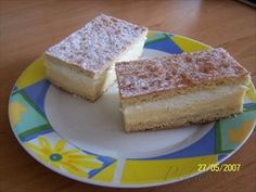 Picture of Recept - Babiččiny krémeše Czech Recipes, Kitchen Hacks, Baked Goods, Baking Recipes, Rum, French Toast, Cheesecake, Dairy, Sweets