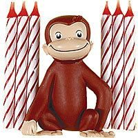 Curious George Cake Decoration and Candles - Birthday Candles - Birthday Cake Supplies - Boys Birthday - Birthday Party Supplies - Categories - Party City Curious George Party, Curious George Cake Topper, Curious George Cakes, Curious George Birthday, Halloween Costume Shop, Halloween Costumes For Kids, 2nd Birthday Parties, Boy Birthday, Birthday Ideas