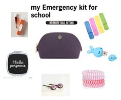 """my Emergency kit for school"" by lynamiss on Polyvore featuring beauté, Tory Burch, Accessorize, Bershka et Royal Apothic"