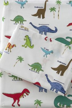 Cute dinosaur bed sheets for a little boy