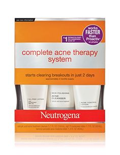 BUY THIS!!! I had bumps all over my forehead and it cleared them up! Best face wash I've ever bought! Neutrogena Complete Acne Therapy System