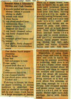 Louisiana Senator Allen J. Ellender's #Shrimp and Crab Gumbo :: Historic Recipe