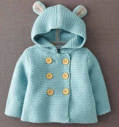 Sewing Baby Jacket Mini Boden 35 Ideas For 2019 Crochet Baby, Knit Crochet, Knit Jacket, Hooded Jacket, Bear Jacket, Bear Coat, Hooded Sweater, Crochet Jacket, Crochet Cardigan