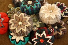 Make your own wool pincushions from recycled clothing.