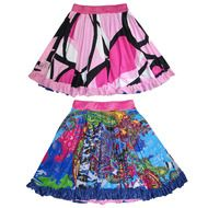 Reversible Twirly Ruffle Skirt Girls Designer Skirts Black Pink | Secret Charms