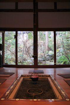"""囲炉裏の部屋、宝泉院、京都 Room of """"Irori"""" Hearth, Hosen-in, Kyoto"""