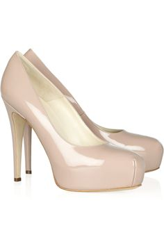 They are so wonderful I want a pair in every colour. - BRIAN ATWOOD  Maniac patent-leather platform pumps