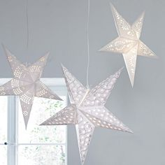paper stars. I have one, maybe i  need to buy another. Love the look.