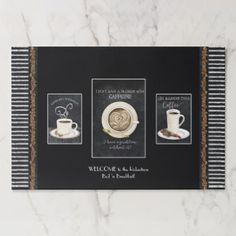 Welcome Sign Chalkboard Coffee Kitchen Home Decor Paper Pad - watercolor gifts style unique ideas diy