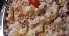 🥔🥔Πατατοσαλάτα 🥔🥔 3 μεγάλες πατάτες 150γρ. Ζαμπόν της αρεσκείας μας 200γρ.τυρι γκούντα Μισό κρεμμυδάκι 1 μαγιονέζα μικρή 1 αυγό βραστ... Potato Salad, Salads, Potatoes, Ethnic Recipes, Food, Potato, Essen, Meals, Yemek