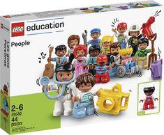 DUPLO People, een uitgebreide set DUPLO poppetjes voor scholen, kinderopvang en hulpverlening. Van Lego, Lego Duplo, Disney Characters, Fictional Characters, Dolls, Education, Pram Sets, Lego Duplo Table, Baby Dolls