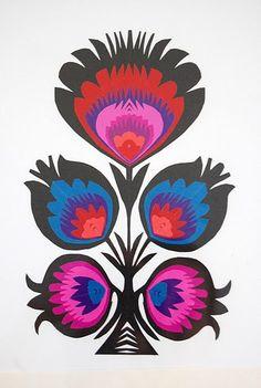 Papercuts Wycinanki Traditional Polish Folk Art Picture by Syloz