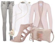 Business Look mit grauer Jeans - Businessoutfit - stylefruits.de