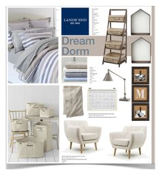"""""""Design Your Dream Dorm with Lands' End: Contest Entry"""" by jpetersen ❤ liked on Polyvore"""