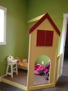 Image result for indoor corner playhouse