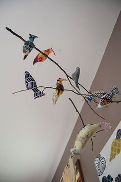 Bird mobile for the nursery