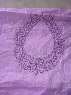 Indian Embroidery Designs, Kurti Embroidery Design, Hand Embroidery Stitches, Embroidery Techniques, Embroidery Applique, Embroidery Patterns, Hand Embroidery Flowers, Embroidery Works, Embroidery Hoop Nursery