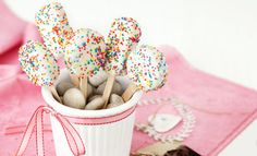 Easy biscuit pops - if you're getting a bucket full of sprinkles...