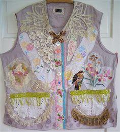 Antique & Vintage  Linens  Eclectic ARTISAN Wearable Folk Art Crochet & Embroidery & Lace  mybonny