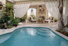 Stylish Porch With Elegant Curtains