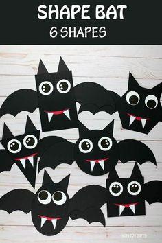 Shape Bat Craft - Easy Halloween Math Craft | Non-Toy Gifts