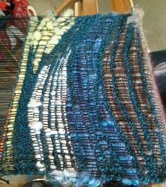 Saori workshop - weaving curves www.saorisaltspring.com