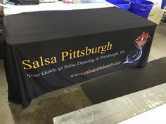 Promotional #tablecloths are a great way to add a personal touch to your event table.  #TradeShow #MrSign #Pittsburgh #Branding