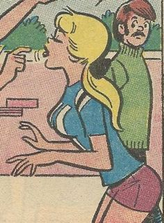 From Archie's Girls Betty and Veronica # Archie Comics Characters, Archie Comic Books, Vintage Comic Books, Vintage Comics, Teen Posters, Art Of Dan, Children's Comics, Vintage Pop Art, Comic Book Panels